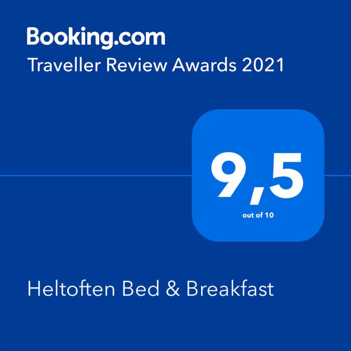 Booking.com - Heltoften bed & breakfast awards